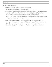 MATH 1271 Spring 2013 Homework Assingment 7.7 Solutions