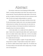 science fair abstract