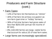 Producers and Farm Structure (cont 2