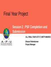 2.0 SESSION 2 PSF COMPLETION AND SUBMISSION.pptx