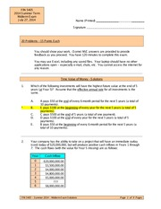 Exam 1 Summer 2014 Solutions
