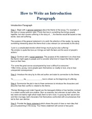 Note - How to Write an Introduction Paragraph