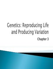 Lecture 3 - Chapter 3 - Genetics.ppt