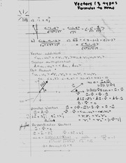 Vectors (3 types) and Formulas to Know