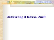 4Outsourcing of Internal Auditing