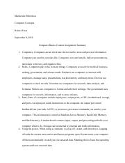 Computer Basics Content Assignment Summary.docx