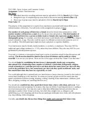 Leisure Time Interview Assignment Description and Rubrics - TLS 150B (4)