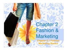 Microsoft PowerPoint - Chapter 2 Fashion and Marketing