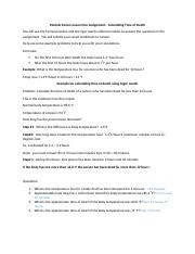 Module Seven Lesson One Assignment Calculating time of death