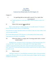 Law 3800, Contracts Study Guide, Part III, Chapter 13 F13 .docx
