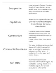 Communism Flashcards and Study Guide (Student Made)