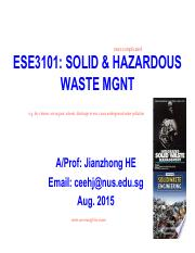 ESE3101 PART 1 - solid waste characterizaiton and quantification