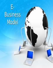 Chapter 6 E Business Model
