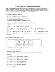 in-class Linear Programming exercises (pp. 5-10)