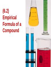 (6.2) Empirical Formula
