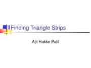 FindingTriangleStripsPatil