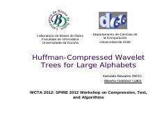 Huffman-Compressed Wavelet Trees  for Large AlphabetsGonzalo.pdf