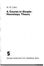 gtm010 A Course in Simple Homotopy Theory