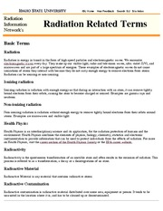 RADD 2501 Idaho State Radiation Related Definitions