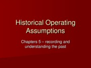 5  - Historical Operating Assumptions