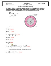 Quiz 1 2010 Solution on Intermediate Mechanics of Fluids