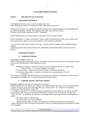 Civil Procedure II Outline 1