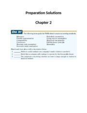 Preparation Solutions - Ch2