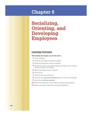 Chap 8 Socializing, Orienting and Developing Employees