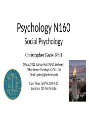 Class 10 - Prosocial Behavior