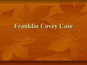 Franklin Covey Case