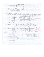 CHEM 12 Keq Problems and Tricks Notes