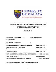 CASE STUDY A REPORT (GROUP 8)