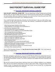 Survival john handbook pdf sas lofty wiseman