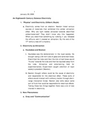 Lecture 4 - Electricity
