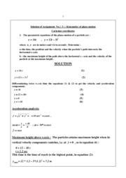 Solution of Assignment No. ( 3 )