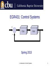 1. Introduction to Control Systems
