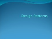 #6 Object Oriented Design Patterns
