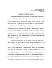 Classification essay on shoes