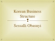 Korean Business Structure