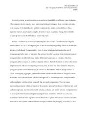 Unit 5 Assignment 3 Ethics and Computer Crimes.docx