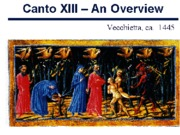 Canto XIII - An Overview