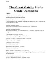 The Great Gastsby study guide questions.docx