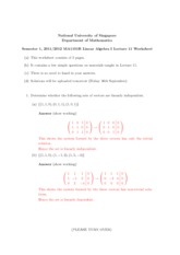 Lecture 11 Worksheet Solution