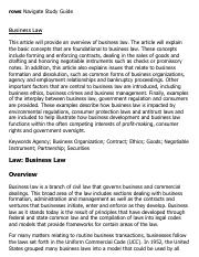 Commercial law research papers