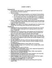 HENRY IV PART 1 study guide