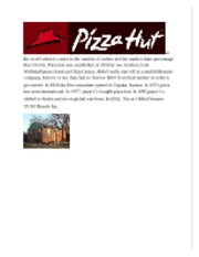 Pizza hut example(marketing audit project)