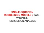 SINGLE-EQUATION REGRESSION MODELS