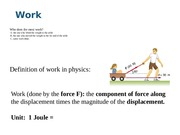 Lec 8 Work and energy
