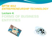 L4 - Forms of Business Entities
