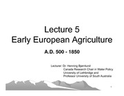 Topic 2 Part 3-Early European Agriculture